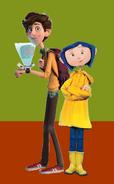 Coraline Jones and Walter Beckett (Coraline's Old Brother)