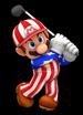 Mario playing golf