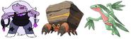 Crustle, Amethyst & Grovyle