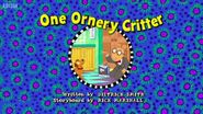 One Ornery Critter Title Card