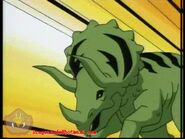 Beast Boy into Triceratops