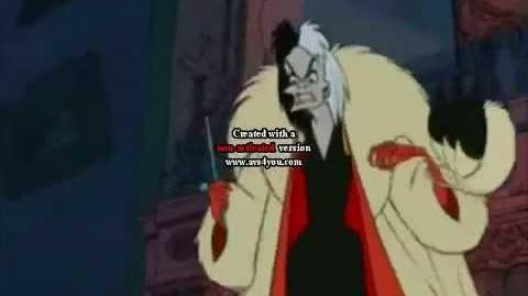 Brer Fox yells at Cruella de Vil