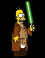Homer Simpson as a Jedi