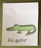 Alligator Begins With A