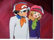 Ash and serena in scooby doo outfit