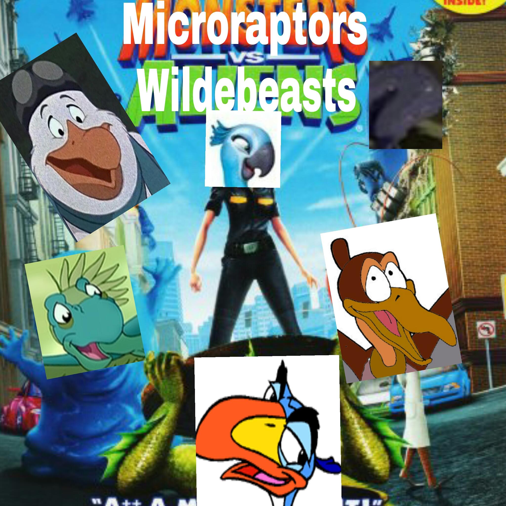 Microraptors vs. Wildebeests
