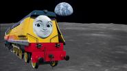 Rebecca on the moon