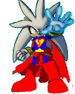 Silver the Hedgehog as Superman