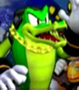 Vector the Crocodile in Sonic Colors