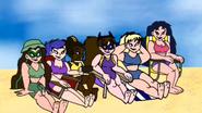 DC Superhero Girls swimsuits by Inacio