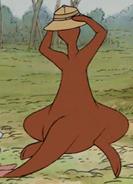 Kanga running around 4