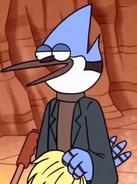 Mordecai it's a wig