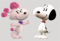 Snoopy is falling in love with Fifi