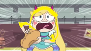 Star Butterfly covered in eggs, butter and milk in Scrambled Eggs