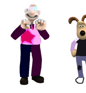 Wallace Garnet and Gromit Amitheyst