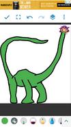 Libby as Diplodocus