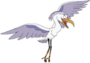 Sarah Spacebot egret form thelionking in thespacebotsadventuresseries