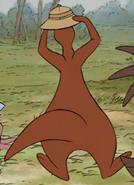 Kanga running around 5