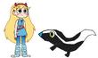 Star meets Striped Skunk