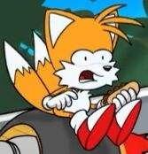 Tails choking a bit right before disappearing and becoming dust in the breeze