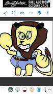 Eugene Krabs as a lion