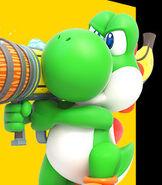 Yoshi in Mario + Rabbids Kingdom Battle