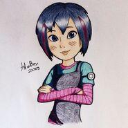 Astro Boy Cora Drawing