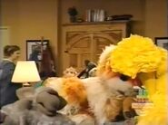 Big Bird, Barkley and all the Muppet guest asleep in episode 3857