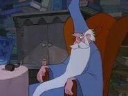 Merlin in his chair.