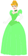 Cinderella wears Green