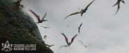 Flock of Pteranodons