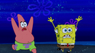 Spongebob and patrick running with screaming