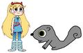 Star meets Eastern Grey Squirrel