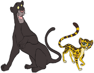 Bagheera And Fuli Are Best Friends