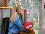 Elmo falls asleep from all he's done with Gina