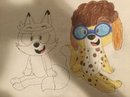 Lincoln Fox and Clyde Dog