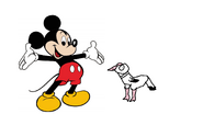 Mickey meets White Relase Dove