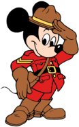 Mountie Mickey Mouse