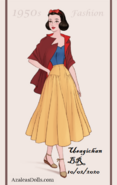 Snow White in 1950s Fashion