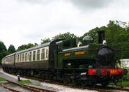 South-devon-railway-staverton-gwr-pannier-tank-1366-class-1369