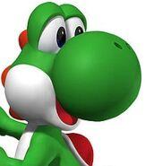 Yoshi in Mario Power Tennis
