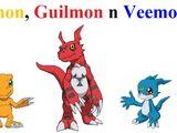 Agumon, Guilmon n Veemon