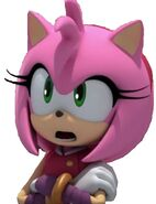 Amy Rose in a White Background