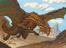 Copper European Dragon