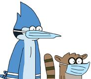 Mordecai and rigby with surgical mask by mega shonen one 64 ddvo05x-pre