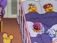 Scooter, Skeeter, Gonzo and Animal sleeping in Muppet Goose
