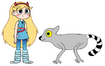 Star meets Ring-Tailed Lemur