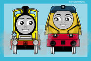 Yellow tender engines by tankengineninja dcjv64s-fullview