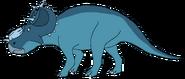 Melvina Spacebot pachyrhinosaurus form dinosaur in thespacebotsadventuresseries