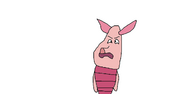 Piglet angry